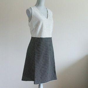 LOFT Striped A-Line Dress